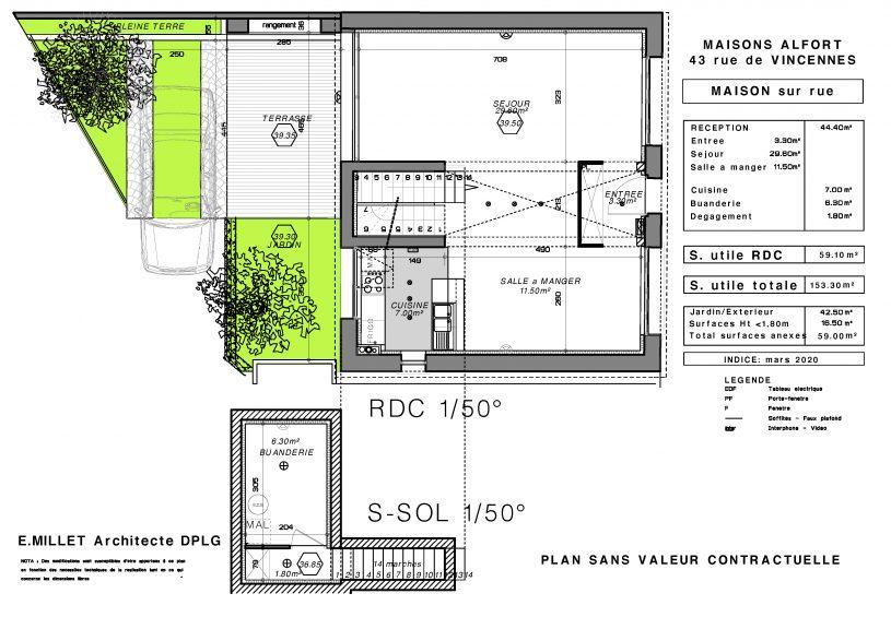PL RDC S SOL maison