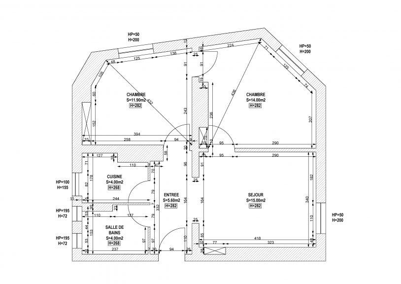 plan appartement 108 rue menilmontant-Model